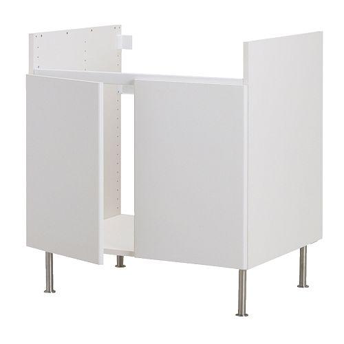 Akurum base cab for domsjo 2 bowl sink ikea reviews for Ikea trollsta cabinet