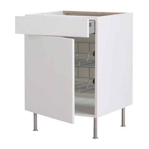 Akurum base cab with wire basket drawer door ikea reviews for Ikea trollsta cabinet