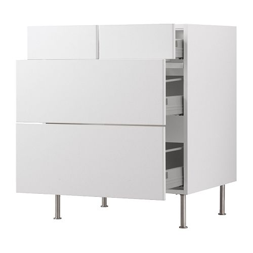 Akurum base cabinet with 2 2 drawers ikea reviews for Ikea trollsta cabinet