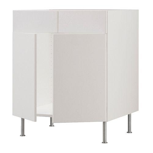 Corner sink base cabinet bathroom