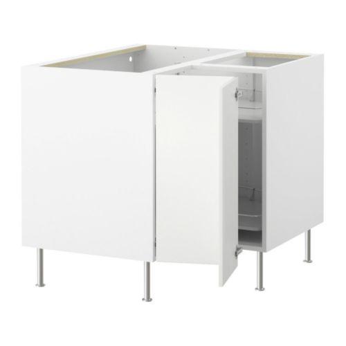 Akurum corner base cabinet with carousel ikea reviews for Ikea trollsta cabinet