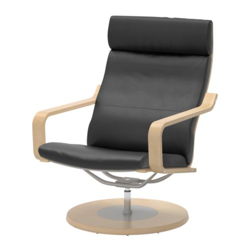 Ikea Poang Chair In Leather ~ Soft, hardwearing and easy care leather is practical for families with