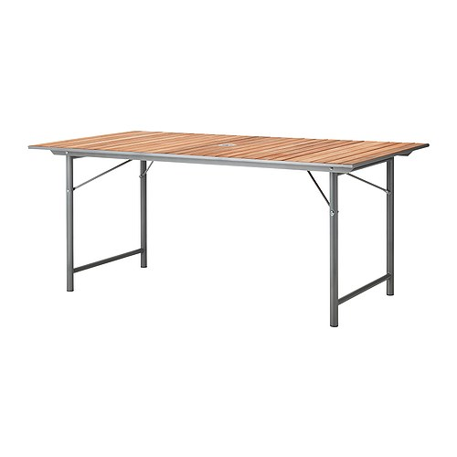 Outdoor furniture ikea reviews for Wooden folding table ikea